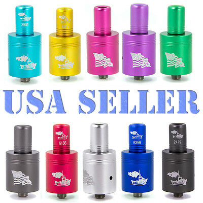 Tugboat RDA Clone Re-buildable Tank Tri Post 510 Thread Stainless Drip-Tip Atty