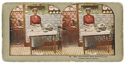Black History Content c. 1900 Stereoview Card