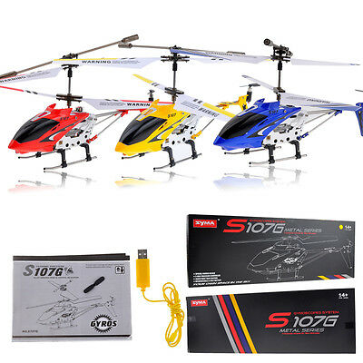 Syma S107G 3-Channel 3.5CH Mini Remote Control RC Helicopter Gyro Genuine Toy