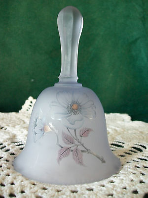 VIKING USA Glass Purple Bell FLORAL PAINTING