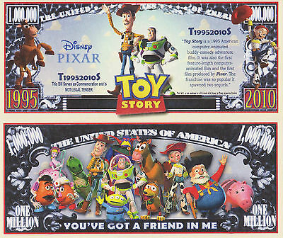 RARE: Toy Story $1,000,000 Novelty Note, Movies Buy 5 Get one FREE