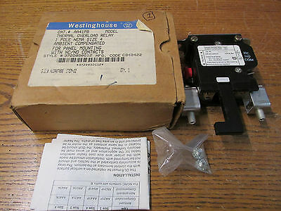 NEW NOS Westinghouse AA41PB Thermal Overload Relay 1 Pole 372D850G12 NEMA Size 4