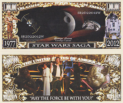 RARE: Star Wars Saga $1,000,000 Novelty Note, Movies Buy 5 Get one FREE