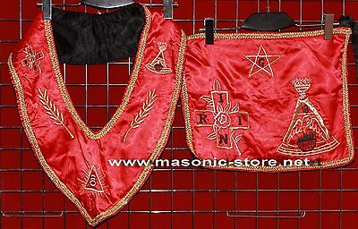 Masonic 18 Degree Rose Croix Set - Apron & Collar
