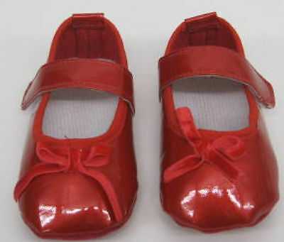 Baby  Girls  shoes 0 - 3 months  job lot  6 pairs RED PATENT wholesale