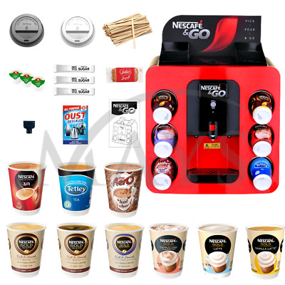 Nescafe & And 2 Go Coffee Vending Machine Free Pos Sign Hot Drinks Next Day Del
