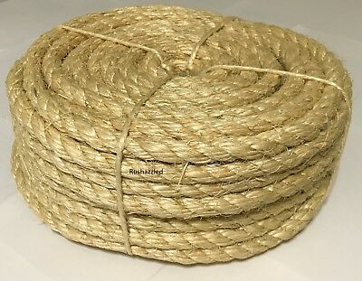 """1/2"""" x 100' Natural Sisal Rope CAT SCRATCHING POST Claw Control Toy Crafts Pet"""