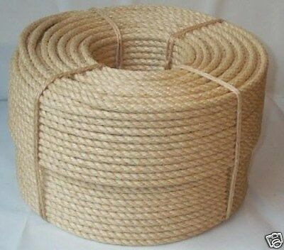 """1/4"""" X 2500' Natural Sisal Rope CAT SCRATCHING POST Claw Control Toy Crafts Pet"""