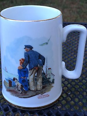 Norman Rockwell Coffee Cup Stein Mug Looking Out to Sea c1985 Museum New 4.5""