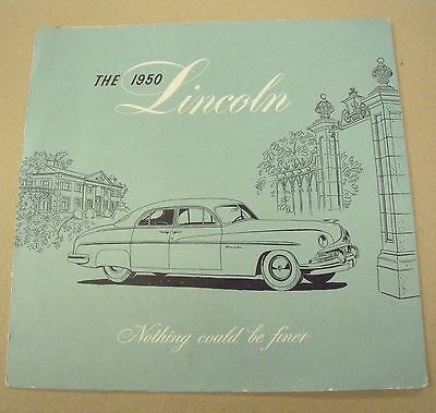THE 1950 LINCOLN VINTAGE AMERICAN CAR ADVERTISING BROCHURE 1950s AUTOMOBILE*