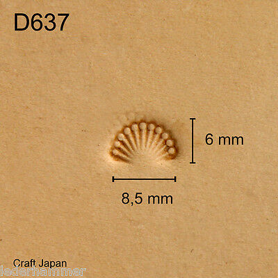 Punziereisen, Lederstempel, Punzierstempel, Leather Stamp, D637 - Craft Japan