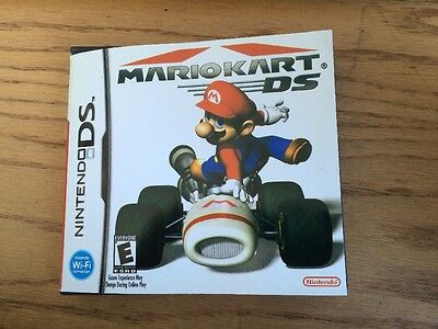 Mario Kart DS Mario Kart DSI DS3 Case & manual ONLY NO GAMES Or Plastic