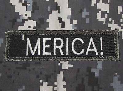Merica Murica 'merica Us Usa America Tactical Milspec Swat Hook Morale Patch