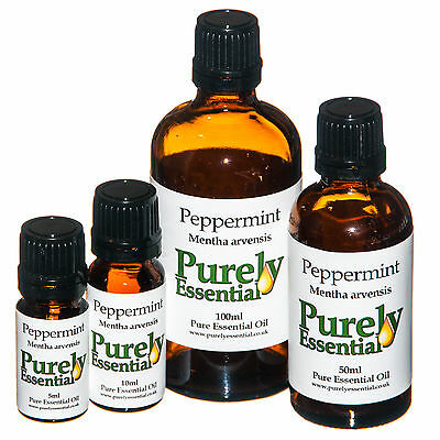 Peppermint Essential Oil 5ml 10ml 50ml 100ml Pure & Natural, Purely Essential
