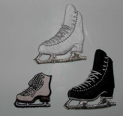 New Iron On Ice Skate Boot Skating Patches iron-on Patch Accessory Gift Present