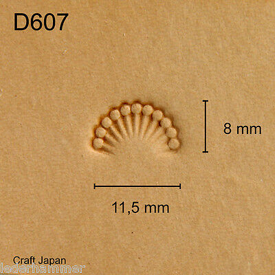 Punziereisen, Lederstempel, Punzierstempel, Leather Stamp, D607 - Craft Japan