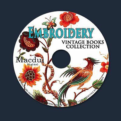 Embroidery Vintage Books Collection 55 PDF E-Books on 1 DVD Needlework Stitch