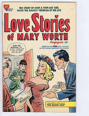 Love Stories of Mary Worth #1 Super Publications CANADIAN EDITION