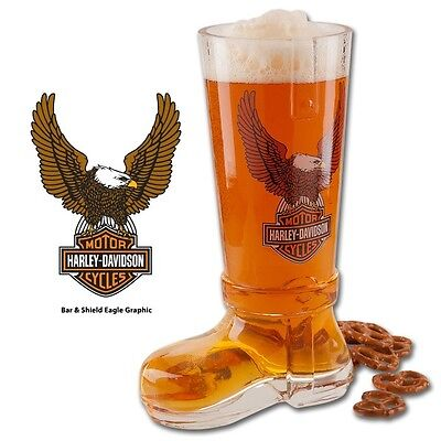 HARLEY DAVIDSON  Eagle Glass Boot for your beer drinking