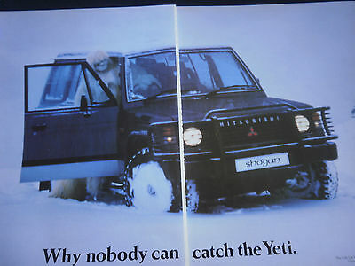 MITSUBISHI SHOGUN - 2 page COLOUR ADVERT