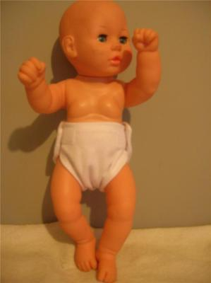 """Doll Clothes Baby Doll Diapers Single White Fits Size 12"""" 13"""" 14""""   Dolls"""