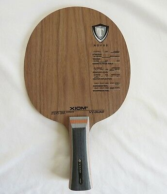 Xiom V1 Quad Table Tennis Blade , Fl Handle