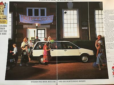 MITSUBISHI SPACE WAGON - 2 page COLOUR ADVERT