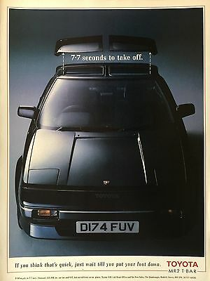 TOYOTA MR2 T-BAR - 1 page COLOUR ADVERT
