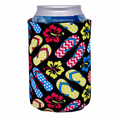 Flip Flop Pattern Beer Can Coolie or Koozie.