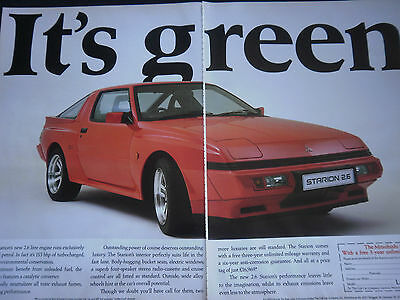 MITSUBISHI STARION 2.6 - 2 page COLOUR ADVERT