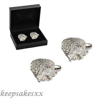 CUFFLINKS Sterling Silver NEWFOUNDLAND DOG Puppy - 925 UK unique UK design