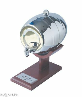4L Stainless Steel Beer Wine Barrel Dispenser with Pipe and Stand Home Bar Deco