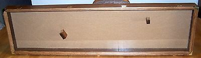 44x12x3 RIFLE DISPLAY CASE with MOUNTING PEGS for HENRY WINCHESTER LEVER ACTION