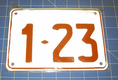 Novelty Small  Embossed Aluminium Standard Number Plates Made To Order