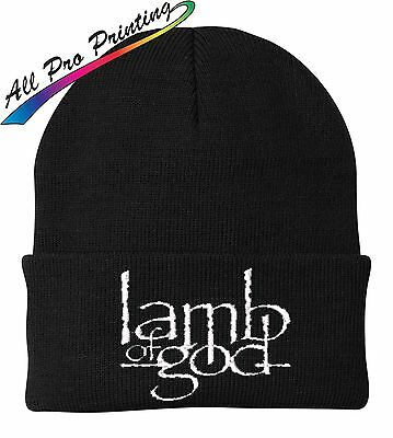 Lamb of God Embroidered Beanie Metal Band Music One Size Fits Most