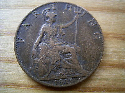 1916  george v  farthing collectable