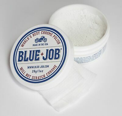 Blue Job Chrome Exhaust Polish + Lint Free Polishing Cloth BIGGER Tub Same Price