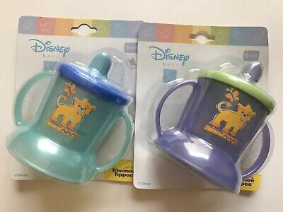 2 Tommee Tippee Toddler Spill Proof Sippy Cup with Handles NEW