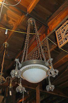 Awesome Arts & Crafts Chandelier Hammered Brass Or Copper  Architectural Salvage