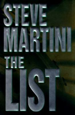 The List By Steve Martini Used Book Hardback W/Dust Cover