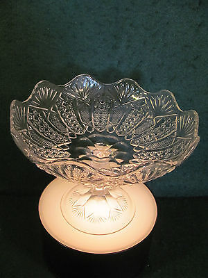 EAPG CLEAR PEDESTAL OPEN COMPOTE