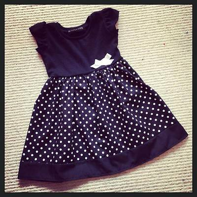 Black & White Polka Dot Dress, Goth, Punk, Alternative, Funky All Baby Sizes