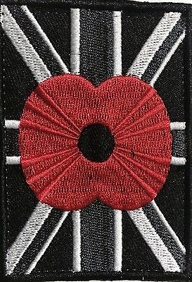 Black velcro union jack  poppy patch male and female parts included.