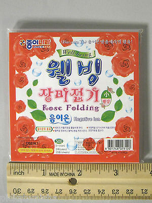 NEW Origami Red Folding Rose Paper 12 cm 24 Sheets 2 Colors 4.5 in DS11K1 Medium