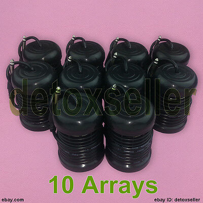 New 10 Round Arrays For Ion Ionic Detox Aqua Chi Cell Foot Spa Bath Ion Cleanse