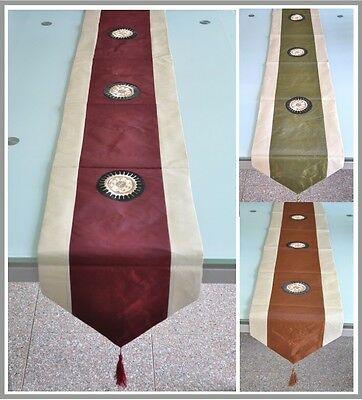 New Satin Brocade table runner home wedding decor size 180X30 and 135X30