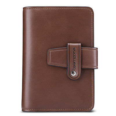 Casual Men Real Leather Creative ID Document Holder Business Credit Card Case