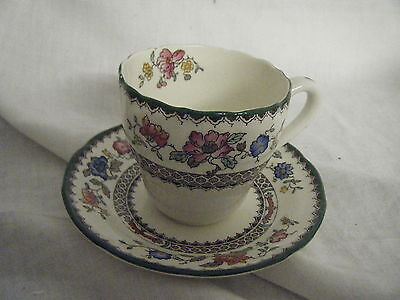 C4 Pottery Copeland Spode Chinese Rose Coffee Cup & Saucer 11x8cm 1D5A