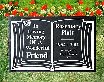 Memorial Graveside Slate Sign Marker Plaque Personalised For Your Loved One