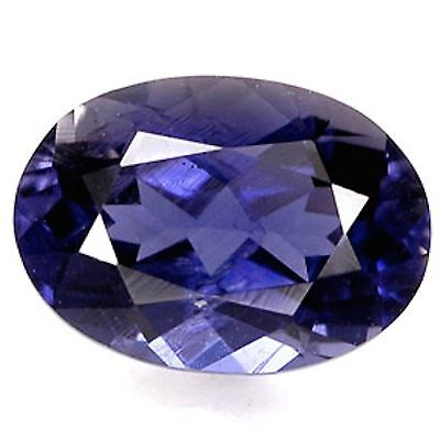 Genuine Natural Iolite AAA Rated Oval Faceted (4x3mm - 9x7mm) Loose Gemstones